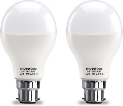 Moserbaer-5W-And-7W-White-LED-Bulb-(Pack-Of-2)