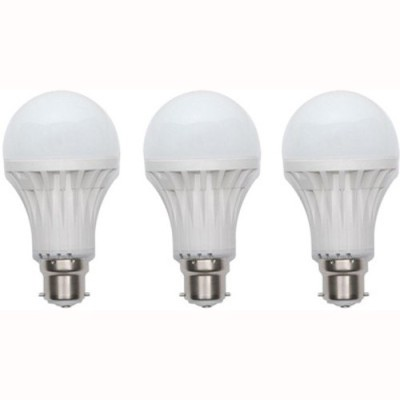 Jmt-Plus-9W-Plastic-220-Lumens-White-LED-Bulb-(Pack-Of-3)