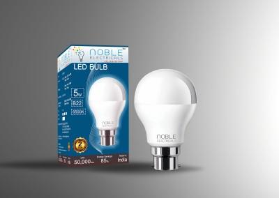 Noble-5W-B22-Cool-White-LED-Bulb-(Aluminium)