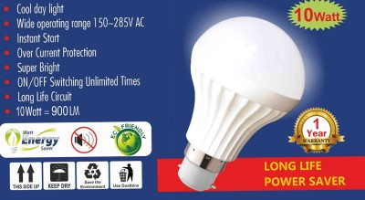 Daylight-10W-B22-LED-Bulb-(White,-Set-Of-2)