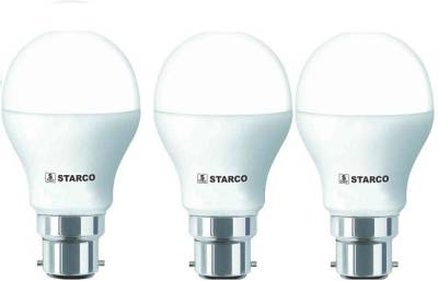 STARCO-9W-B22D-LED-Bulb-(White,-Pack-of-3)