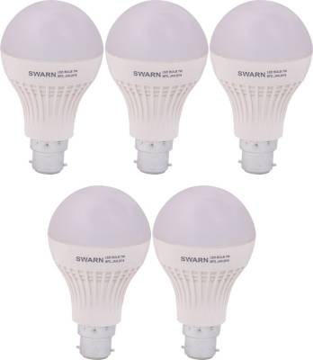 Swarn-7W-B22-600L-LED-Bulb-(White,-Pack-Of-5)