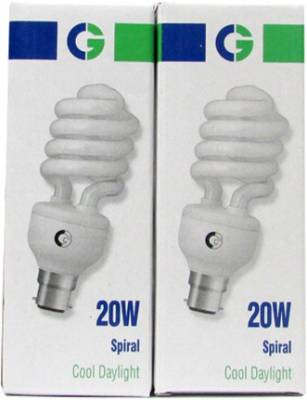 Crompton Greaves 20 W Spiral CFL Bulb (White, Pack of 2) Image