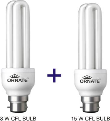 Ornate 8W, 15W CFL Bulbs (White) Image