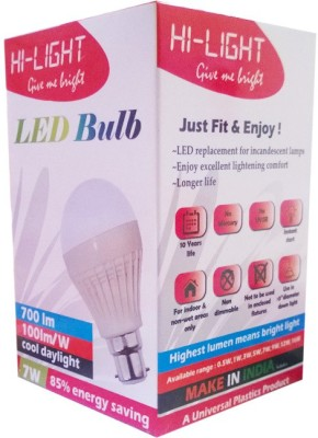 Hi-Light-7W-B22-LED-Bulb-(White,-Set-of-2)