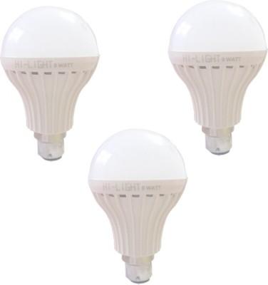 Hi-Light-9W-B22-LED-Bulb-(White,-Set-of-3)