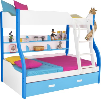 Alex Daisy Cloumbia Engineered Wood Bunk Bed(Finish Color - Blue & White) at flipkart