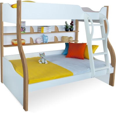 Alex Daisy Cloumbia Engineered Wood Bunk Bed(Finish Color - Oak & White) at flipkart