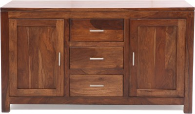 Evok Courtney Solid Wood Free Standing Cabinet(Finish Color - Brown)