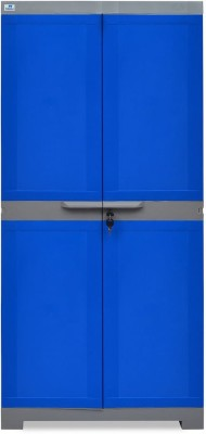 Nilkamal Freedom Mini Medium (FMM) Plastic Free Standing Cabinet(Finish Color - Deep Blue & Grey)
