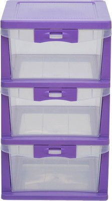 @home by Nilkamal Plastic Free Standing Chest of Drawers(Finish Color - Purple)
