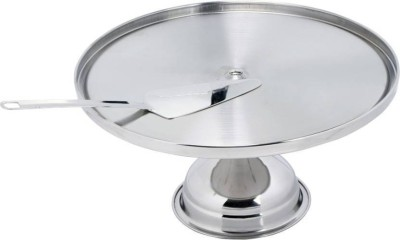 Dynore Pizza Stand with Pie Lifter Stainless Steel Cake Server(Steel, Pack of 2) at flipkart