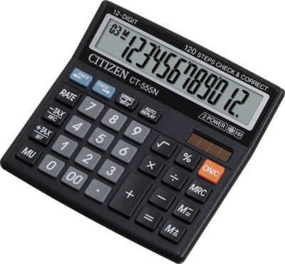 Citizen CT 555 N CT 555N Basic Calculator(12 Digit)