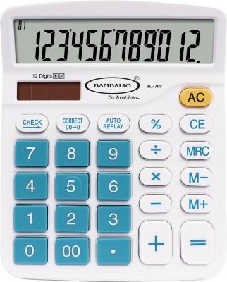 Bambalio 12 Digits Electronic Calculator(Blue) 2 Years Warranty BL-700 Basic  Calculator(12 Digit) Flipkart