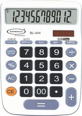 Bambalio 12 Digits Big Display Electronic Calculator (White) 2 Years Warranty BL-444W Basic  Calculator(12 Digit)