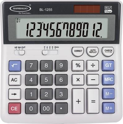 BAMBALIO 12 Digits Electronic Calculator With IT Keyboard & Big Display 2 Years Warranty BL-1255 Financial  Calculator(12 Digit)