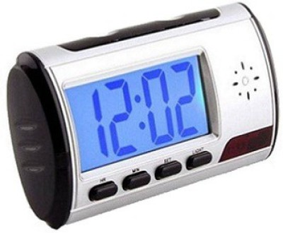 Autosity Detective Security Digital Camera Multi Function HD Clock Spy Product Camcorder(Silver)
