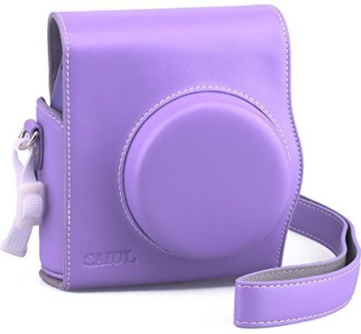 CAIUL 2nd Generation Comprehensive Protection Instax Mini 8 Case With Soft PU Leather  Camera Bag(Purple) at flipkart