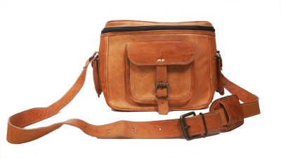 Pranjals House vintage handmade leather Camera Bag Brown Pranjals House Camera Bags