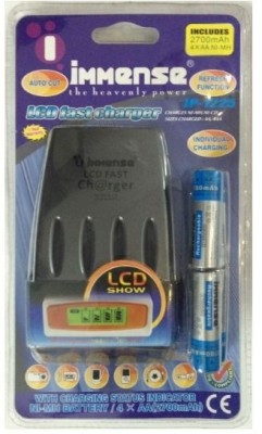 Immense-IP-1225-LCD-(With-4AA-Batteries)-Battery-Charger