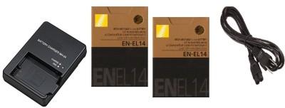 HAWK Nikon EN EL14  Camera Battery Charger Black