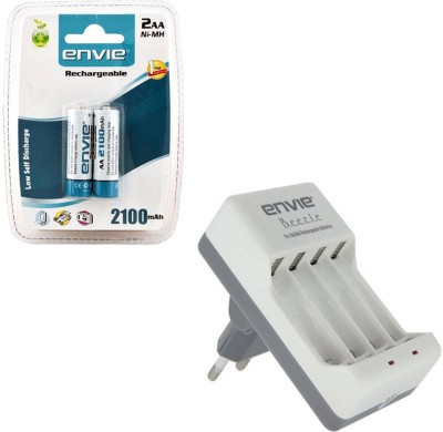 Envie Bettle ECR 20 |Combo With| 2xAA 2100 Ni MH rechargeable Camera Battery Charger
