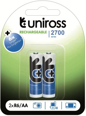 Uniross NIMH2700AABP2 Camera Battery Charger Blue Uniross Battery chargers