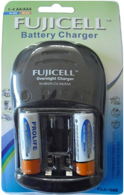 Fujicell 108B (with 2 x 2200 NiMH Ready to use) Camera Battery Charger 1
