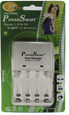 Power Smart 5 Hour Fast Cell Charger  for Ni MH AA/AAA Rechargeable Batteries  Camera Battery Charger