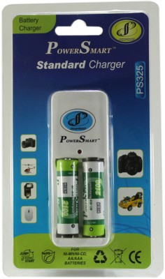 Power-Smart-PS325-Standard-Charger-with-4-AA-Batteries(2100mAh-Capacity)-Battery-Charger
