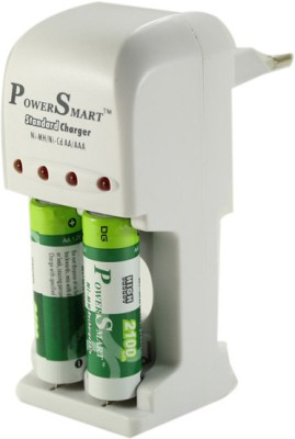 Power-Smart-Battery-Charger-with-2-AA-Batteries(2100mAh-Capacity)-Battery-Charger
