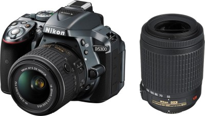 Nikon D5300 DSLR Camera (Body with D-Zoom Kit II Body with AF-P DX NIKKOR 18-55 mm F/3.5-5.6G VR + AF-S DX NIKKOR 55-200 mm F/4-5.6G ED VR II)(Black)