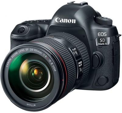 Canon EOS 5D Mark IV DSLR Camera Body with Single Lens:EF 24-105mm f/4L IS II USM Lens(Black)