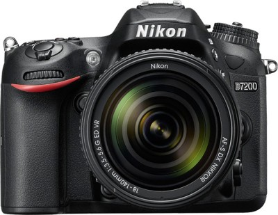 Nikon D7200 (AF-S 18-140 mm VR Kit Lens) DSLR Camera(Black) at flipkart