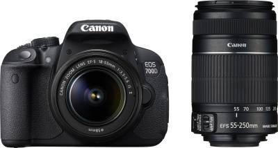 Canon EOS 700D with (EF S18 - 55 mm IS II and EF S55 - 250 mm IS II) DSLR Camera