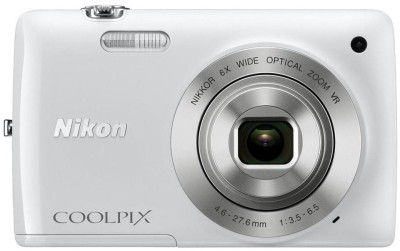 Nikon S4300 Point & Shoot Camera(White)