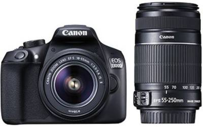 Canon EOS 1300D EF-S 18 - 55 mm IS II + EF-S 55 - 250 mm F4 5.6 IS II DSLR Camera
