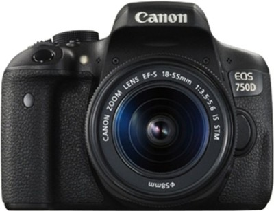 Canon EOS 750D (Kit -EF-S 18 - 55 mm IS STM) DSLR Camera(Black)