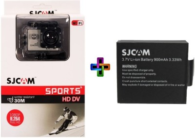 SJCAM Sjcam 4000 Sj _2 Sjcam 4000 Wifi Golden _ 1 Battery Sports & Action Camera(Gold)