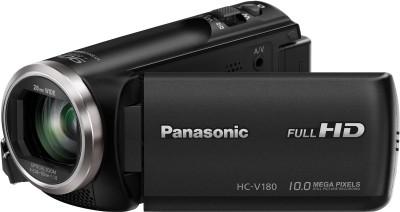 Panasonic HC-V180 Full HD 28mm WIDE LENS Camcorder Camera(Black)