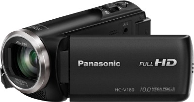 View Panasonic HC-V180 Full HD 28mm WIDE LENS Camcorder Camera(Black) Price Online(Panasonic)