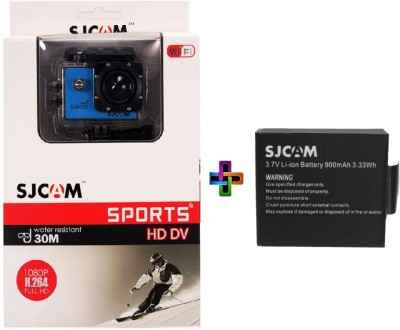 SJCAM Sjcam 4000 Sj _5 Sjcam 4000 Wifi Blue_1Battery Sports & Action Camera(Blue)