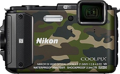 Nikon AW130 Point & Shoot Camera(Camouflage) 1