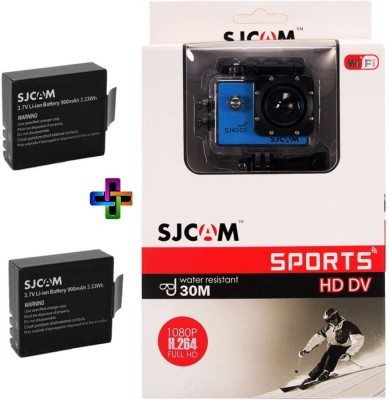 SJCAM Sjcam 4000 Sj _6 Sjcam 4000 Wifi Blue_2Battery Sports & Action Camera(Blue)