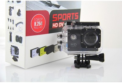 View VibeX � 2.0-Inch Stunt Sports and Underwater Cam Holder Sports & Action Camera(Black) Price Online(VibeX)