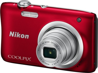 Nikon Coolpix A100 Point & Shoot Camera(Red)