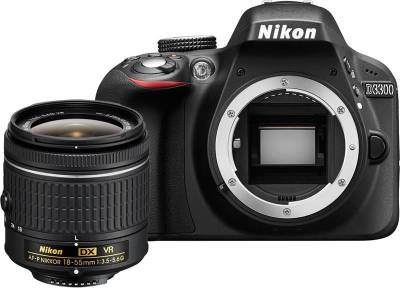 Nikon D3300 (Body with AF-P 18-55 mm F/3.5-5.6G VR + AF-S 55-200 mm F/4-5.6G ED VR II) DSLR Camera