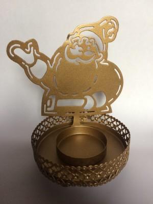 Muhenera Brass, Iron Candle Holder(Gold, Pack of 1) at flipkart
