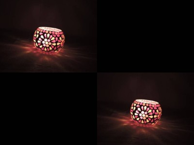 Gojeeva Daily-use Glass 1 - Cup Tealight Holder(Multicolor, Pack of 2) at flipkart
