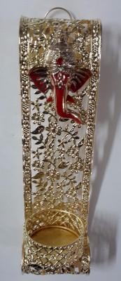Priyals Decorating Lord Ganesha Diya Hanging Brass 1 - Cup Tealight Holder(Gold, Pack of 1)  available at flipkart for Rs.299